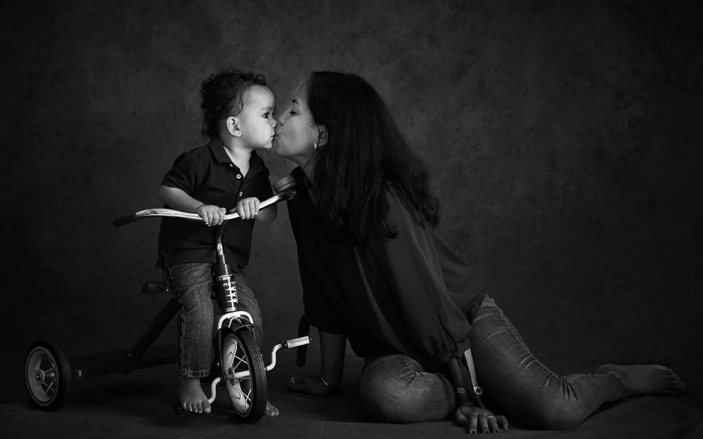 Black and White Family Photoshoot